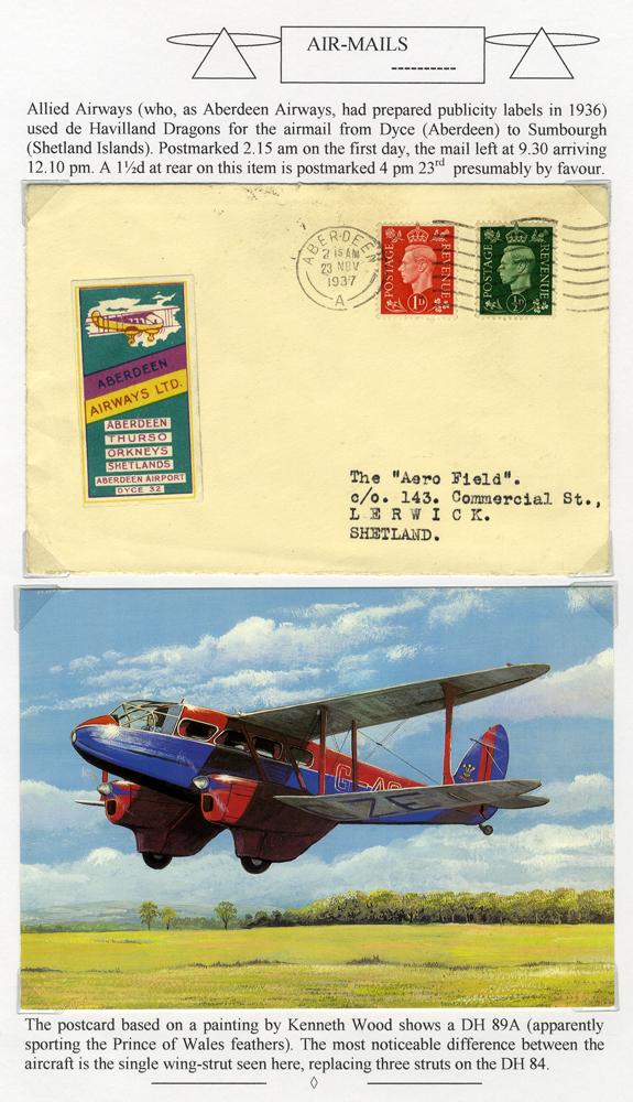 1937 Allied Airways first flight cover