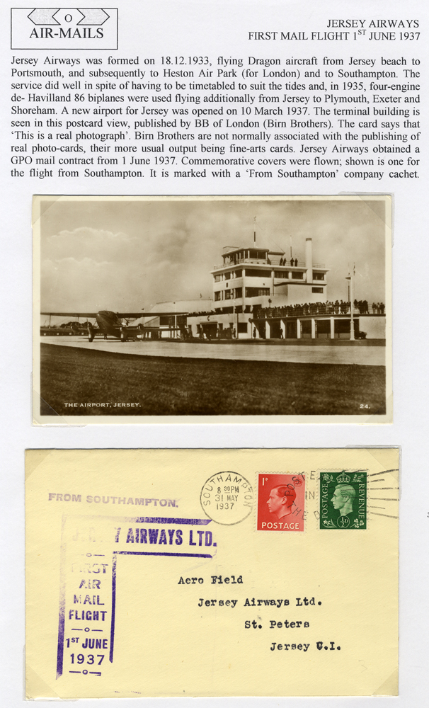 1937 Jersey Airways first flight covers (5)