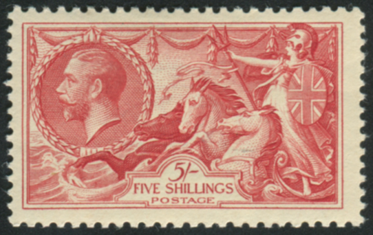 1934 Re-engraved 5s bright rose-red