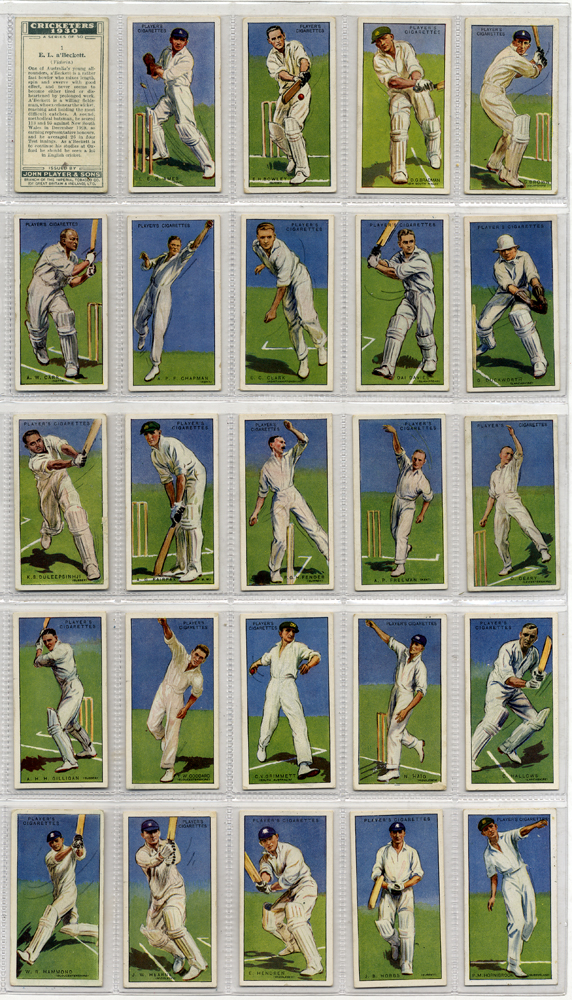 1930 John Player Cricketers, complete set of 50, Cat. £80