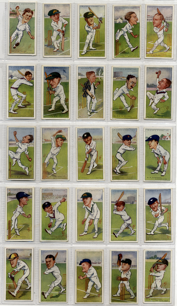 1926 John Player Cricketers Caricatures by RIP, 48 out of 50, Cat. £96
