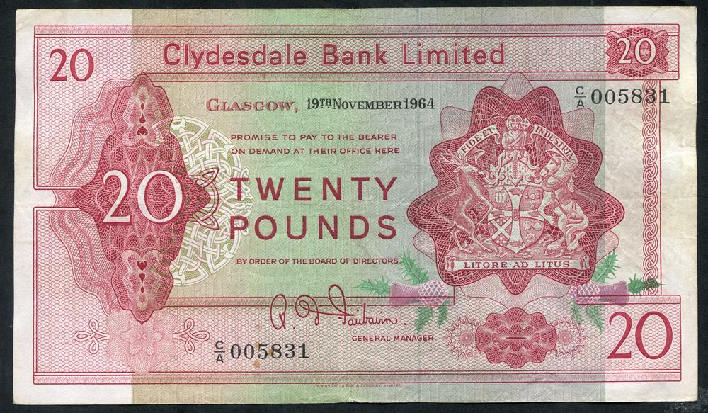 1964 Fairbairn £20