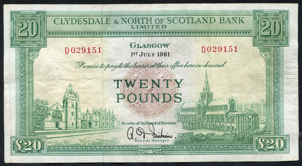 1961 Fairbairn £20
