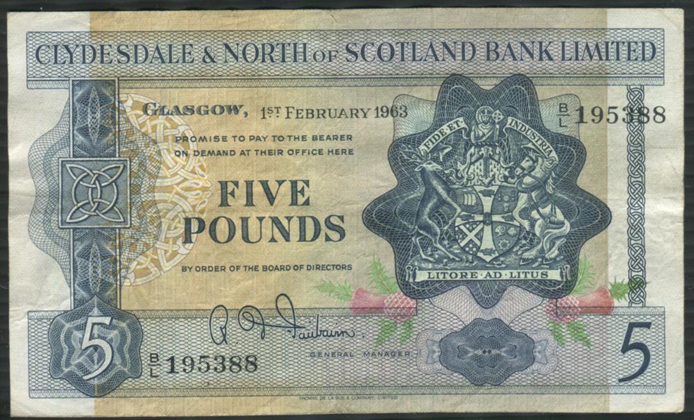 1963 Fairbairn £5