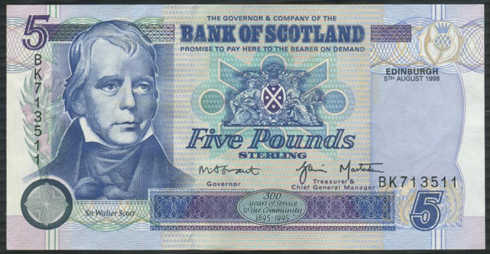 1998 Grant & Masterton £5