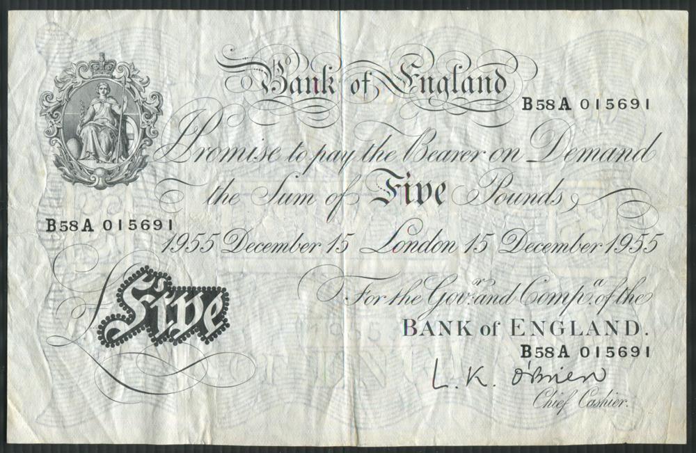 1955 O'Brien White £5