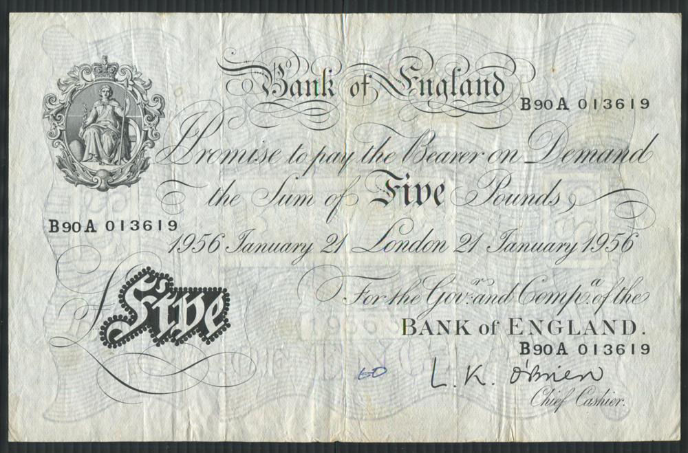 1956 O'Brien White £5