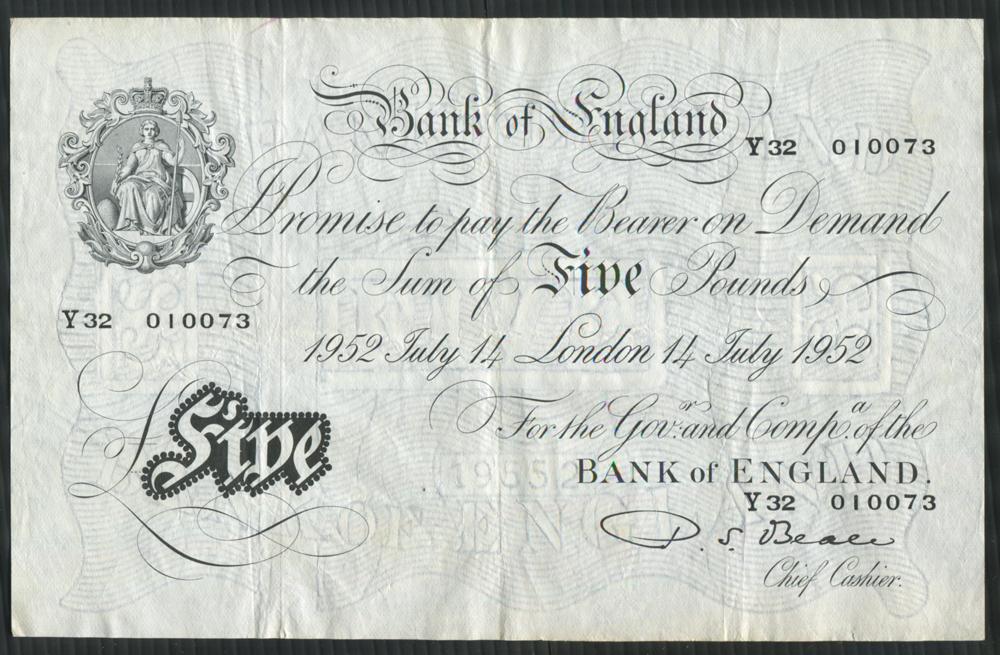 1952 Beale White £5