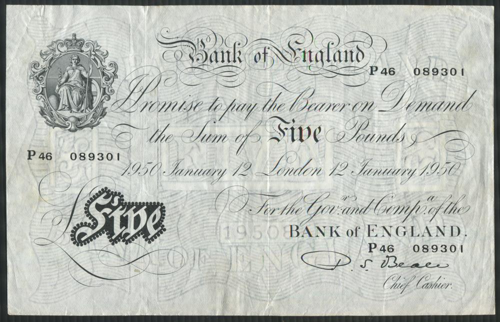 1950 Beale White £5
