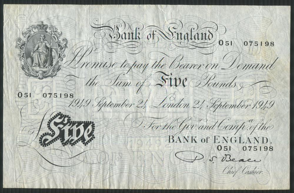 1949 Beale White £5