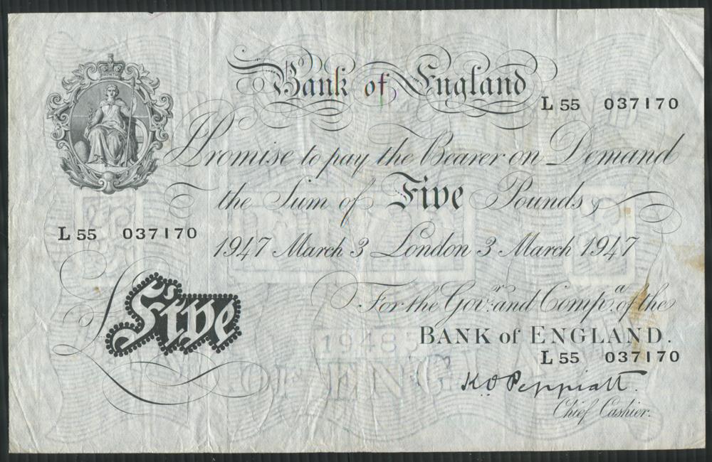 1947 Peppiatt White £5
