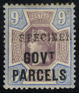 GOVT PARCELS 1888 9d dull purple & blue