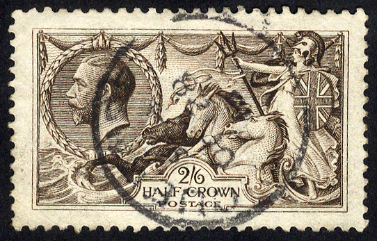 1913 Waterlow 2/6d deep sepia brown