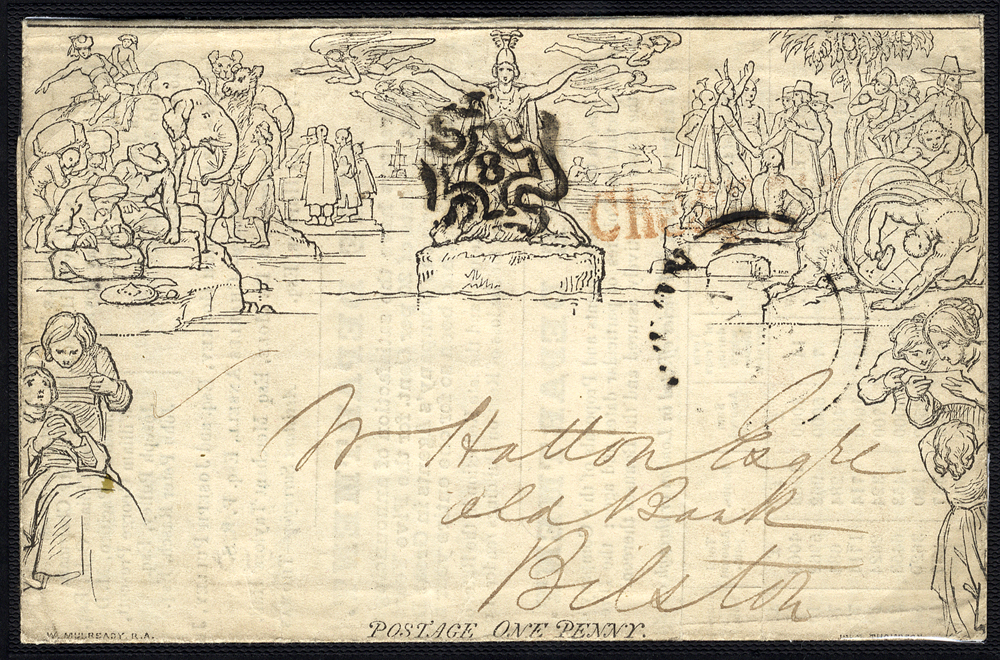 1840 One Penny Letter Sheet Stereo 'A9' Forme I