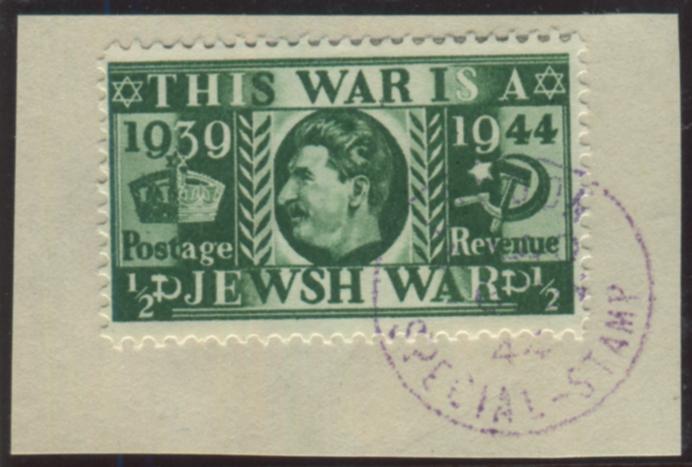 1944 ½d Silver Jubilee - Nazi propaganda forgery depicting Stalin