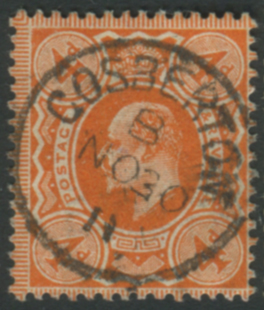 1911 Harrison P.14 4d deep bright orange - Cosberton steel c.d.s.
