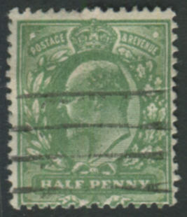 1911 Harrison P.14 ½d deep dull yellow green (very blotchy print)