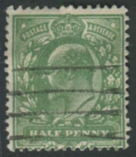 1911 Harrison P.14 ½d deep dull yellow green (very blotchy print)
