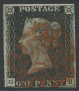 1840 1d black - Plate 1b GB