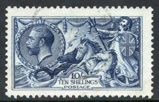1913 Waterlow 10s indigo-blue, SG.202, Cat. £475