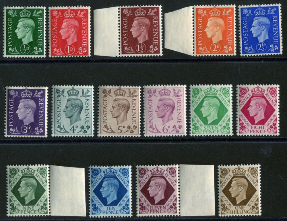 1937 Dark Colours Definitive set