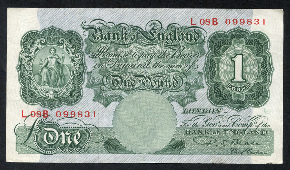1950 Beale £1 green, VF++, Dugg B268.