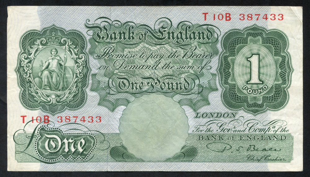 1950 Beale £1 green, VF, Dugg 268.