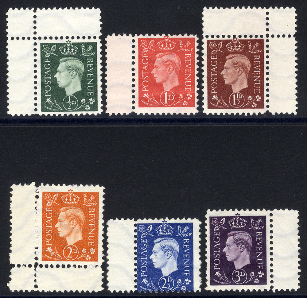 WWII German propaganda forgeries 1937 Definitive series ½d to 3d