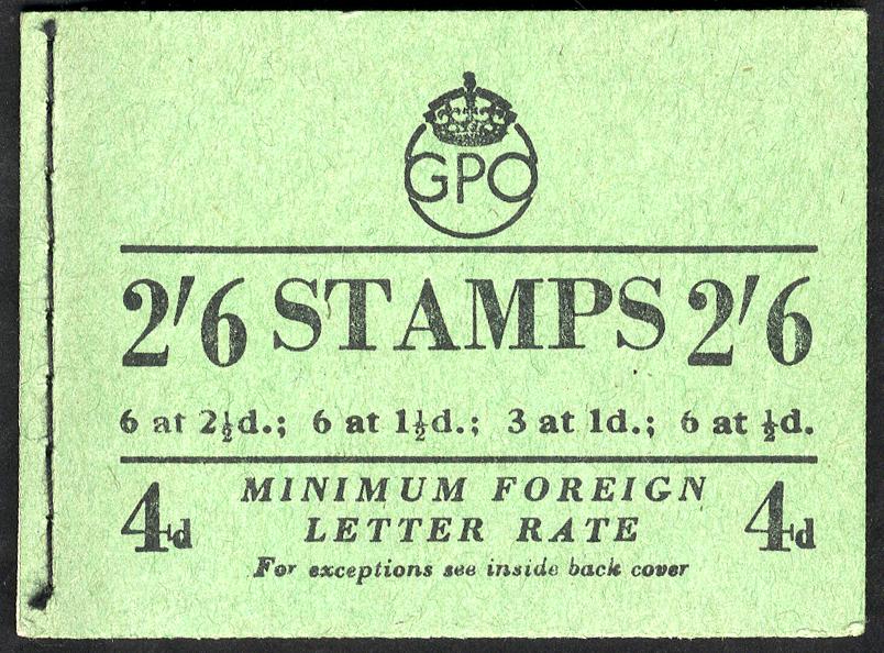 1952 (Nov) 2/6d booklet, SG.BD20(9)