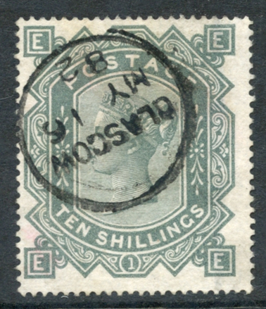 1867 Wmk Maltese Cross 10s greenish grey, SG.128