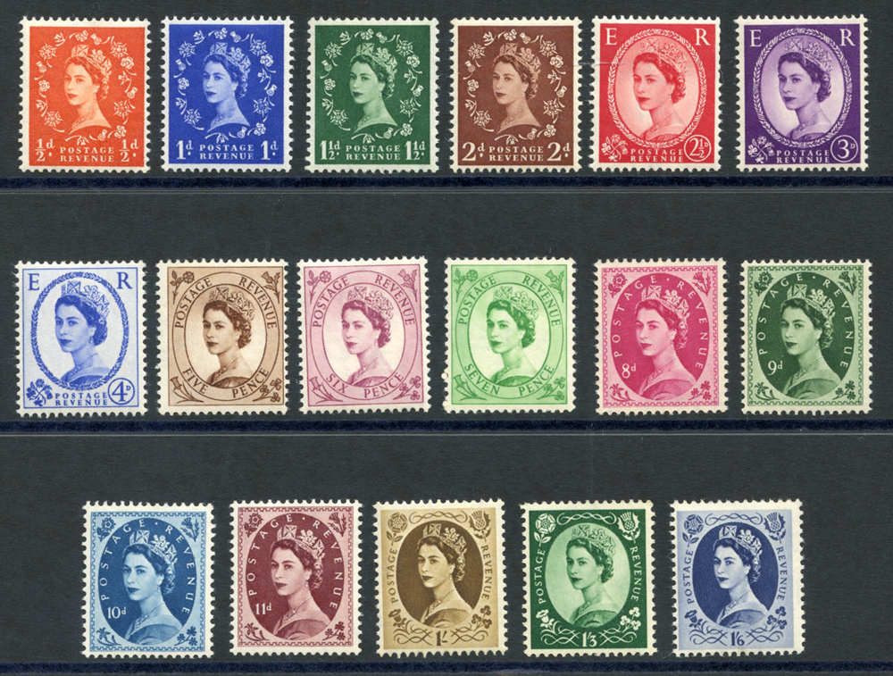 1956 Tudor Crown Wilding Definitive set.