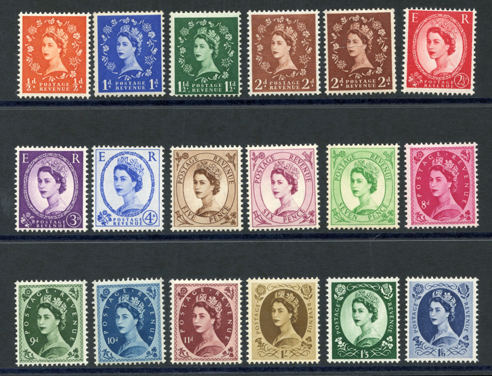 1955 Edward Crown Wilding Definitive set