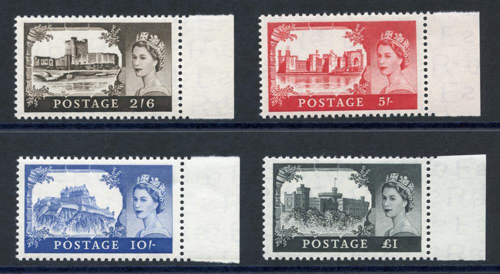 1958 1st De La Rue Castle High Value set