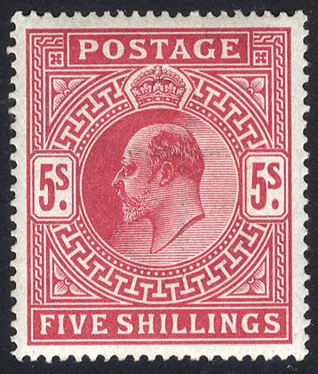 1912 Somerset House 5s carmine