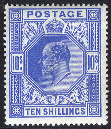 1911 Somerset House 10s blue