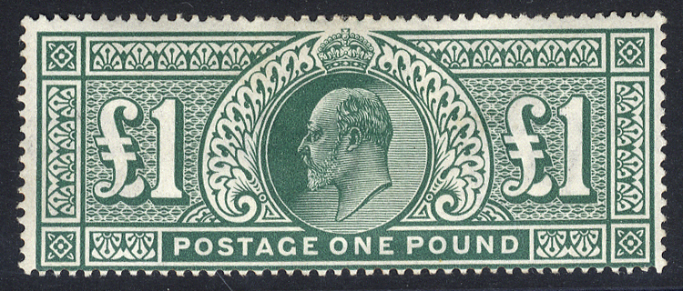 1911 Somerset House £1 deep green