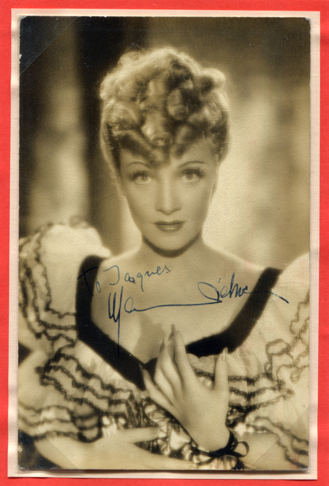DIETRICH, MARLENE 1901-92 (German actress) signed photographic postcard