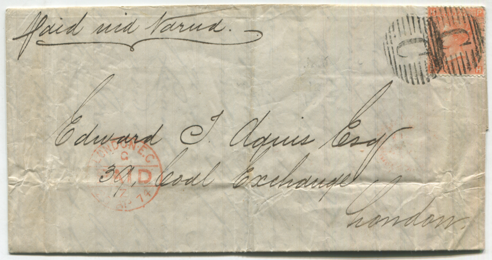 BRITISH PO's IN TURKISH EMPIRE 1874 entire letter from Constantinople to London via Varna