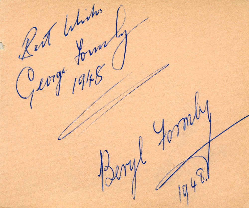 OLD AUTOGRAPH ALBUM containing celebrities and political figures signatures.