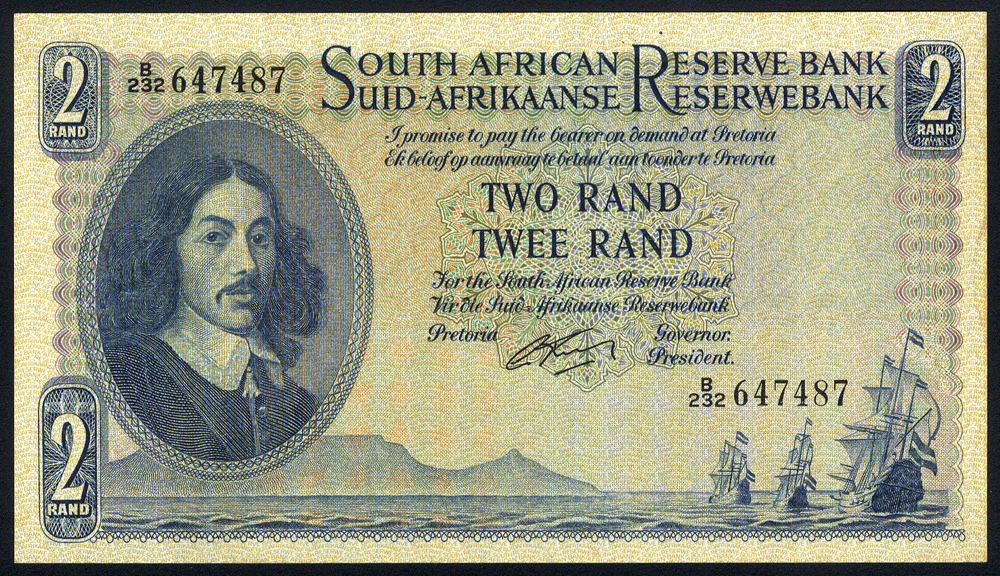 South Africa 2 rand, issued 1962-65