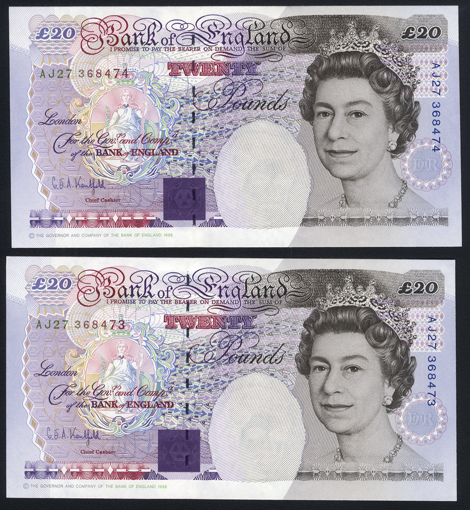 Kentfield £20 (2) issued 1994