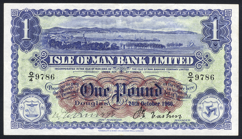 Isle of Man Bank Ltd £1, dated 24th October 1960