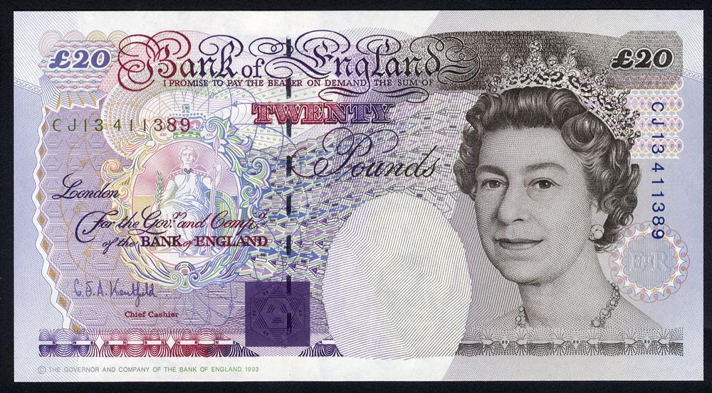 Kentfield £20, B375, issued 1994