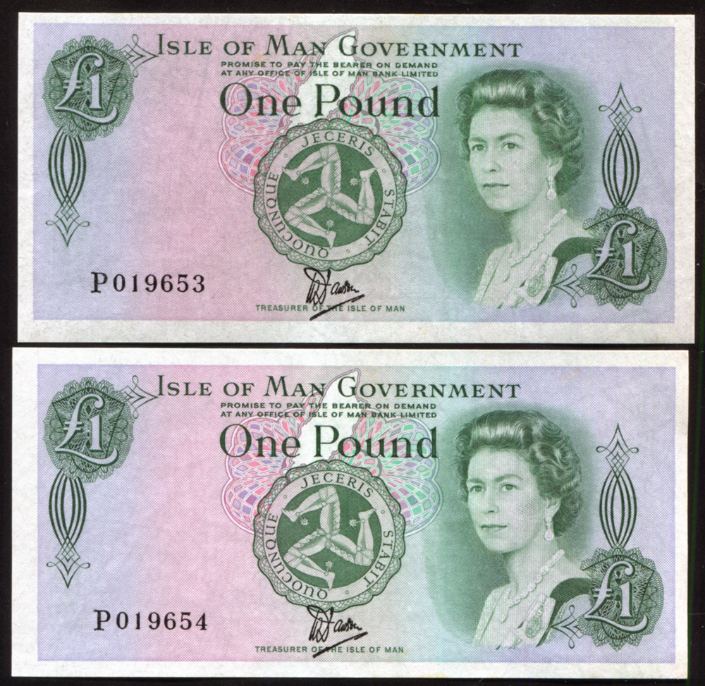 Isle of Man £1 (2), issued 1983