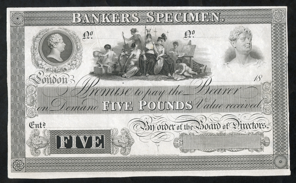 Bankers Specimen Proof dated 18XX (1834-52)
