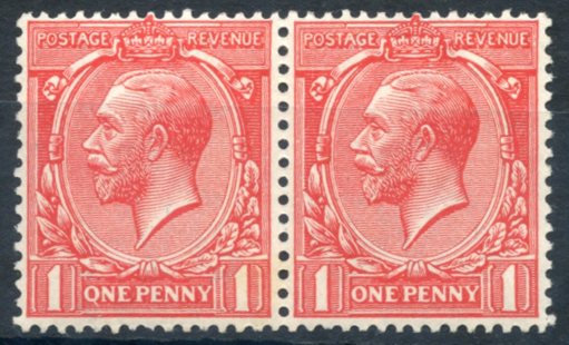 1912 1d bright scarlet, 'Q' for 'O' flaw, SG.357a.