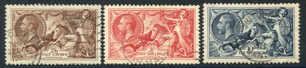 1934 re-engraved Seahorse set, SG.450/2, Cat. £190