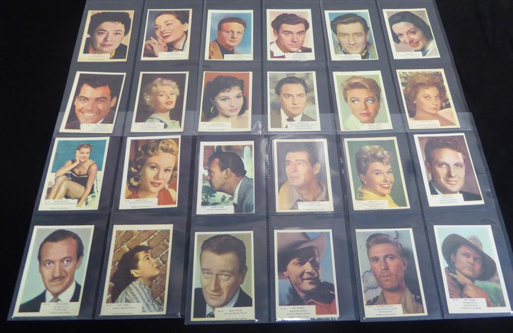 1958 Kane Film Stars, VG/VG+ (69) Cat. £138