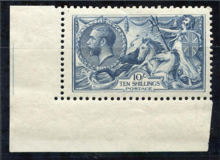 1918 Bradbury Wilkinson 10s dull grey blue, SG.417