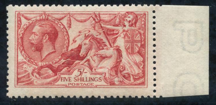 1915 De La Rue 5s bright carmine, SG.409